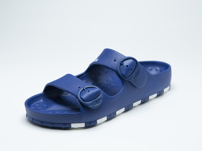 ccilu-HORIZON CHECK SANDAL WOMENS【BLU】